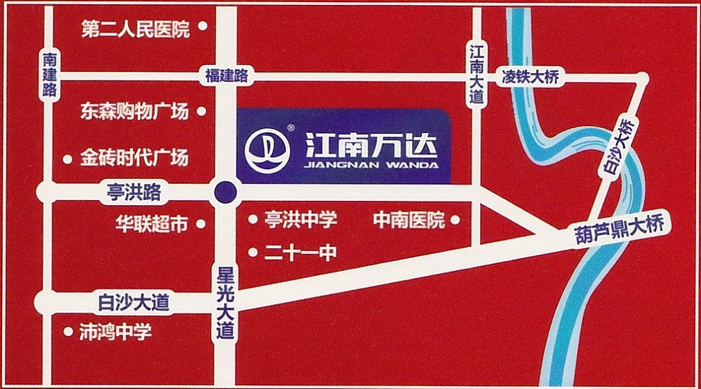 江南万达广场位置图