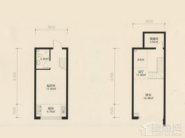二期22号楼LOFT-H户型
