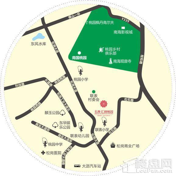 名澳汇锦桃园位置图