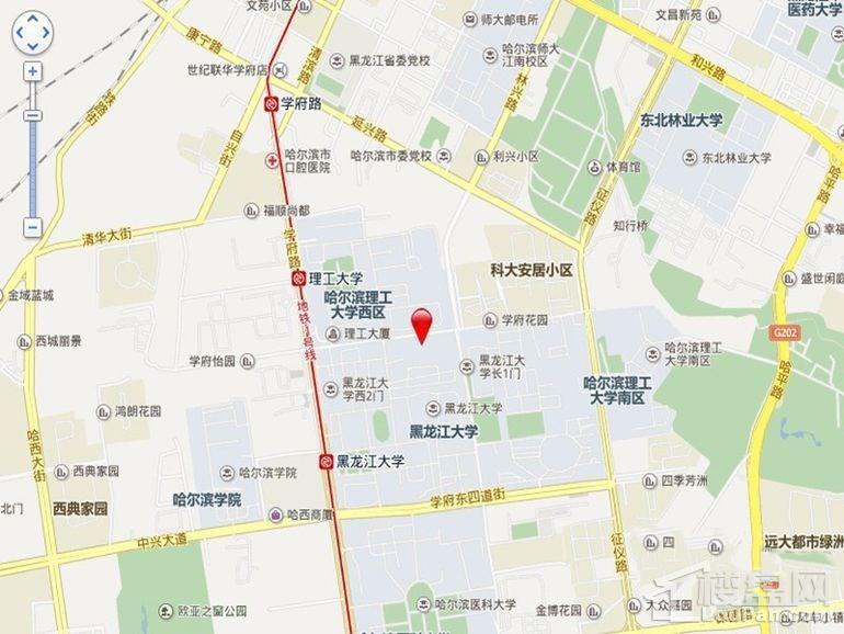 滨建学府尚居位置图