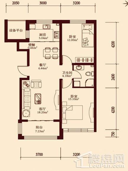 11层小高层通用2户型