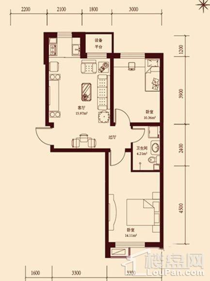 18层小高层通用2户型