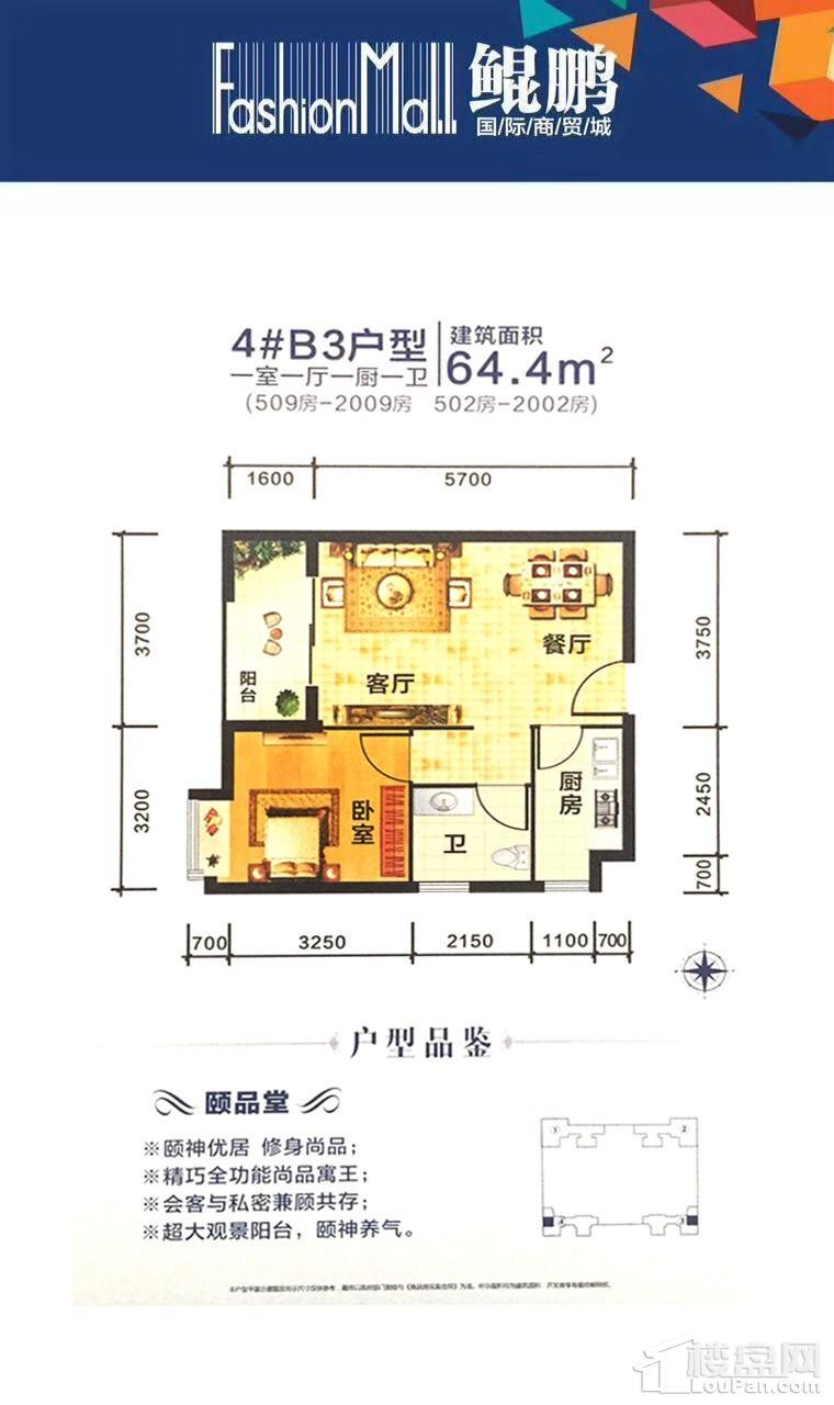 鲲鹏国际商贸城4栋B3户型