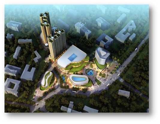 龙山湖湘商贸广场实景图