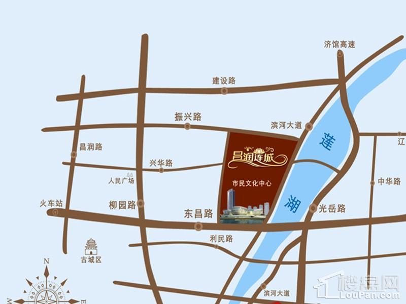 昌润莲城位置图