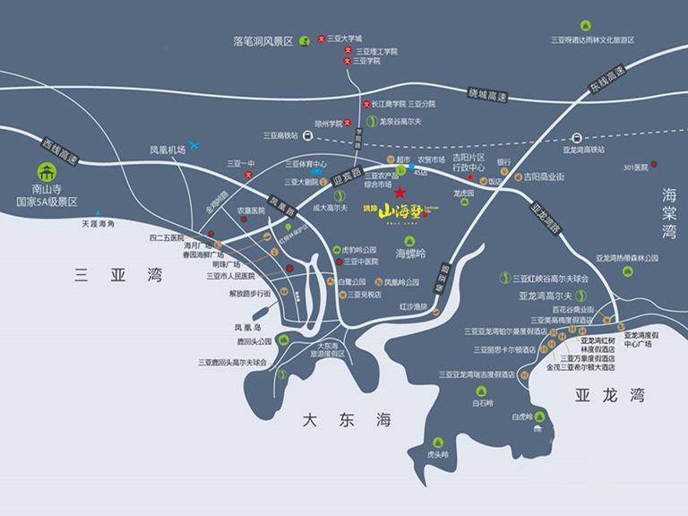 鸿坤·山海墅位置图