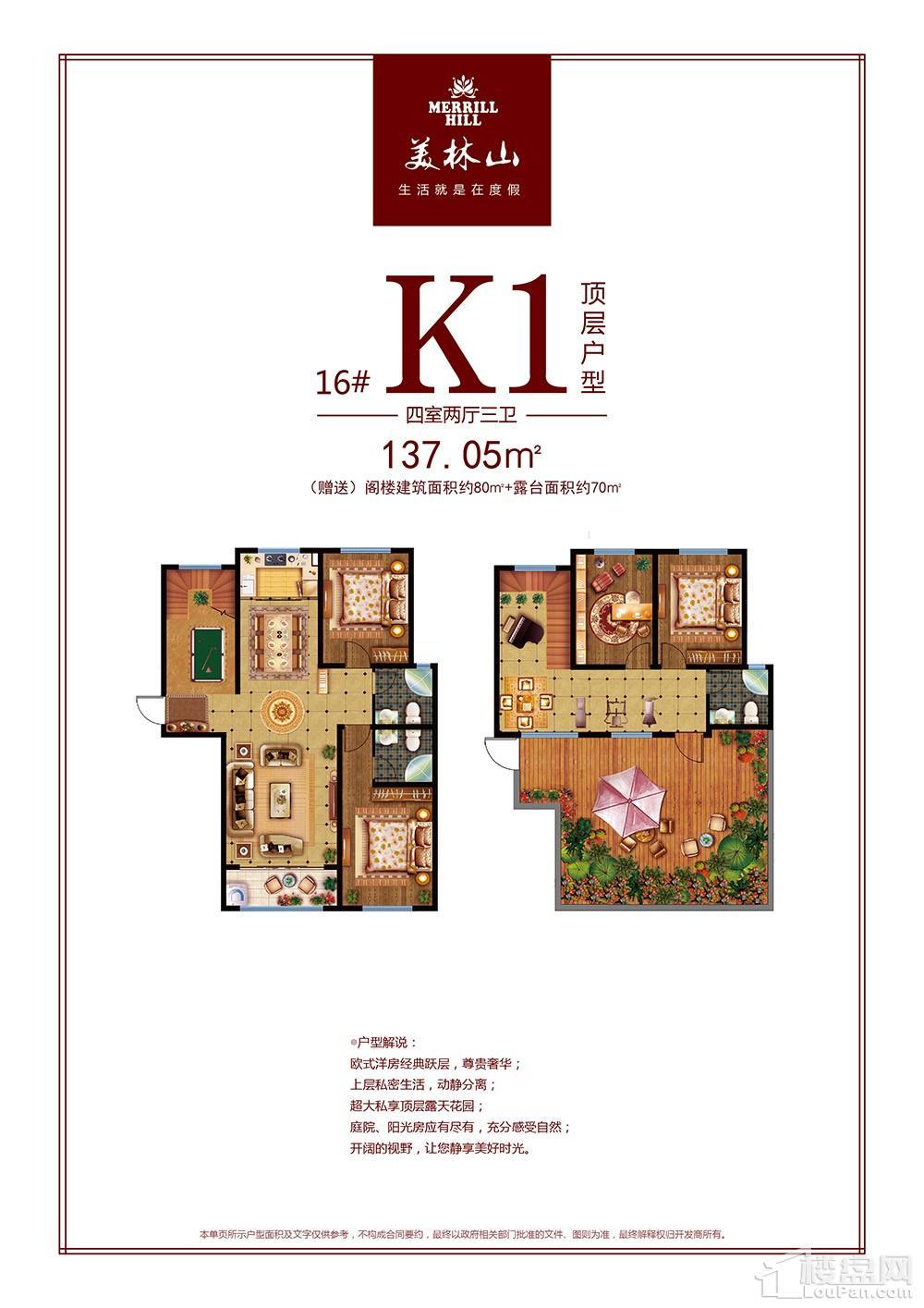 K1顶层户型