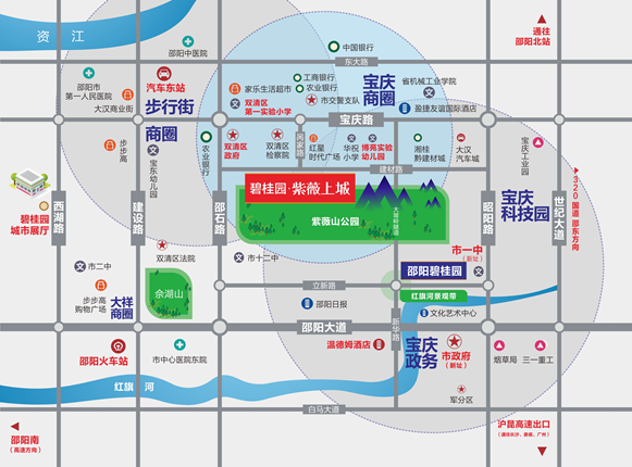 碧桂园·紫薇上城位置图