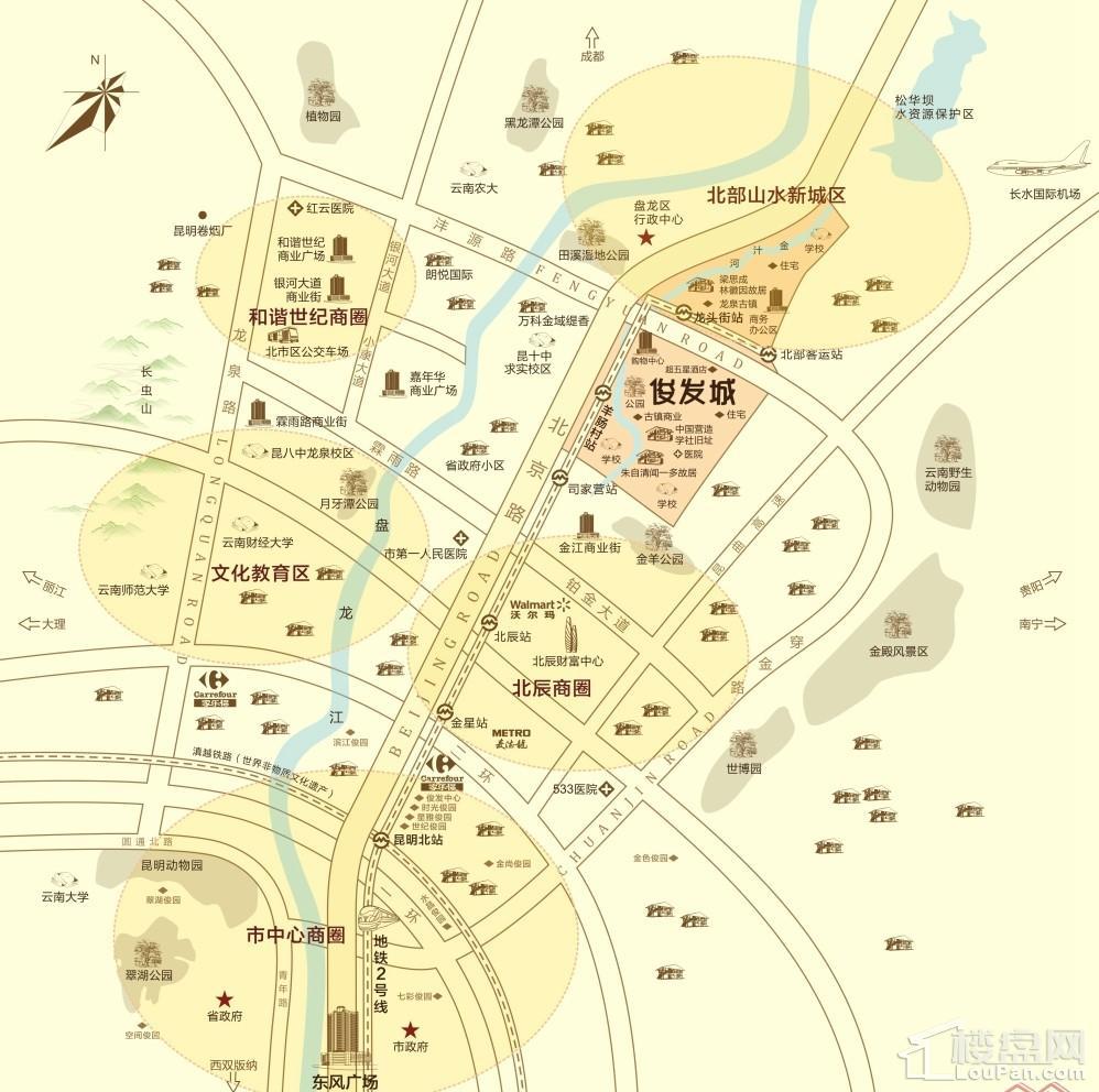 俊发城位置图