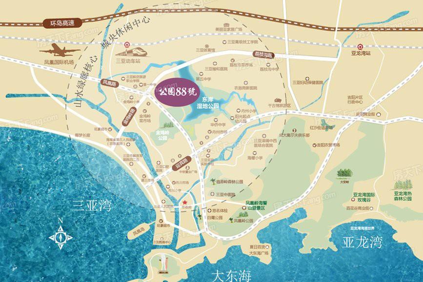 公园88号位置图