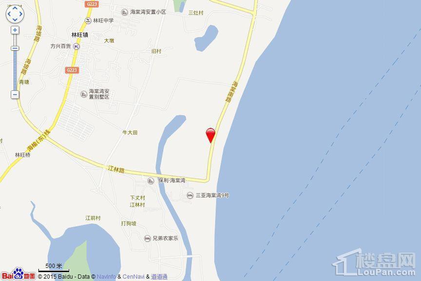 国美·海棠湾位置图