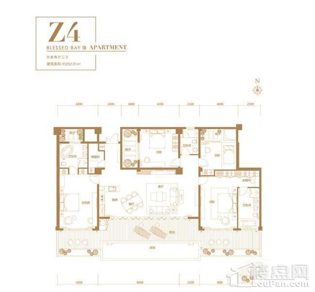 葛洲坝·海棠福one-Z4户型