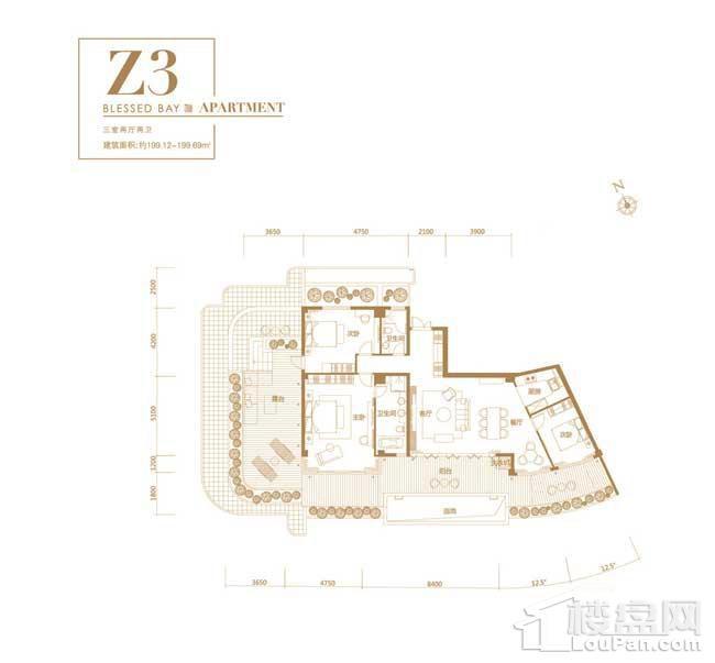 葛洲坝·海棠福one-Z3户型
