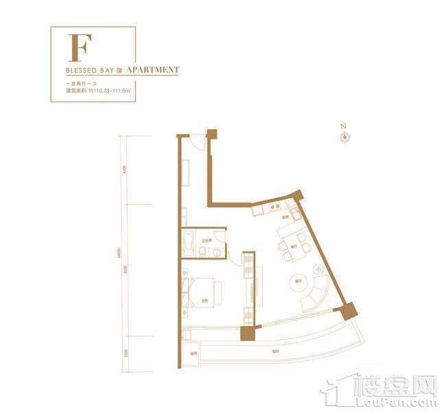葛洲坝·海棠福one-F户型