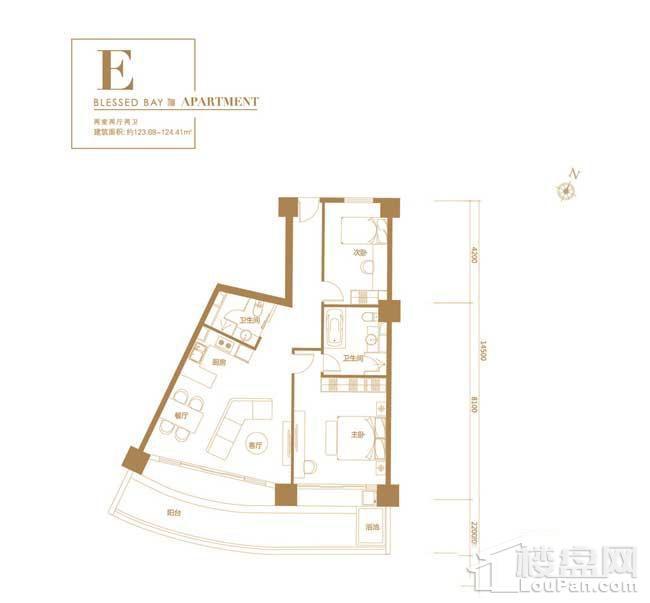 葛洲坝·海棠福one-E户型