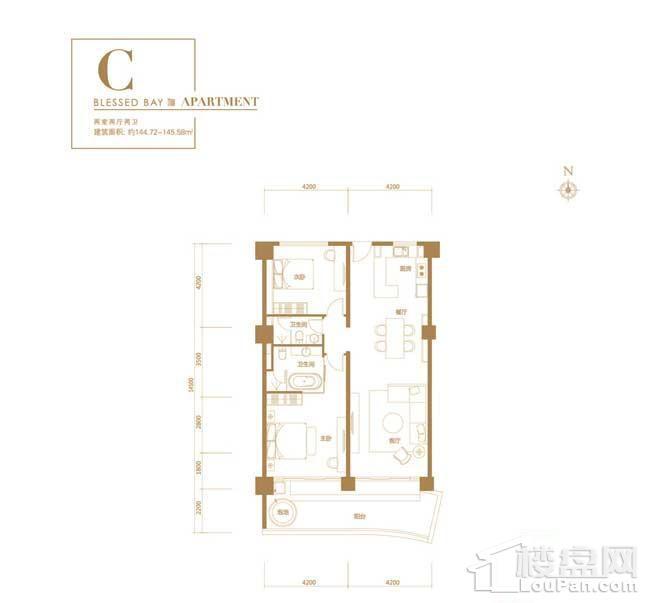 葛洲坝·海棠福one-C户型