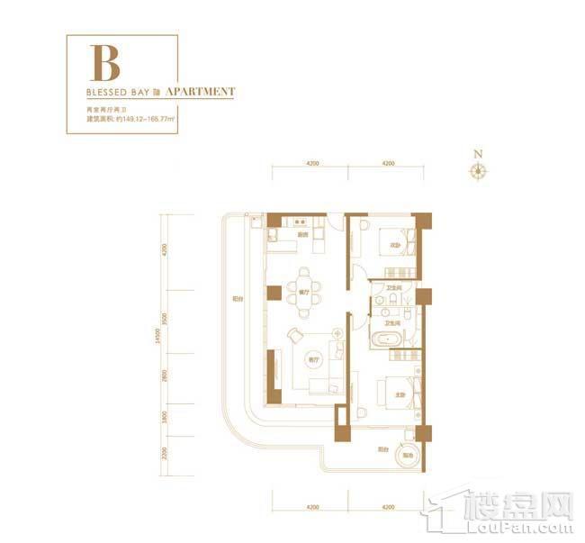 葛洲坝·海棠福one-B户型