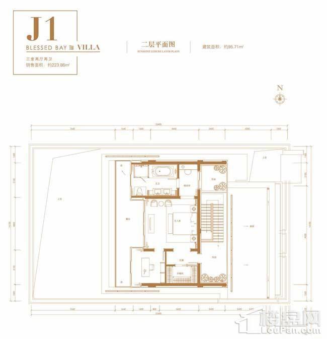葛洲坝·海棠福one别墅J1户型(二层)