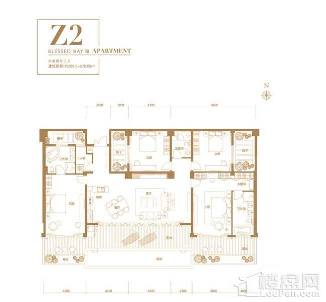 葛洲坝·海棠福one别墅Z2户型