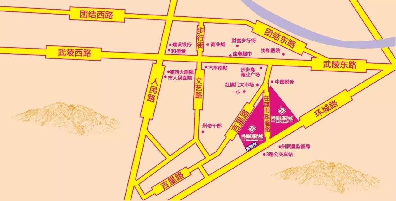 鸿锦国际城位置图
