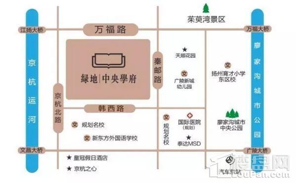 绿地中央学府位置图