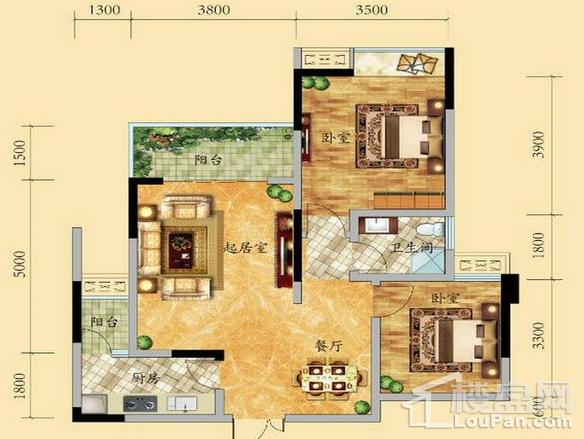 高层7号楼2-15层4号房户型