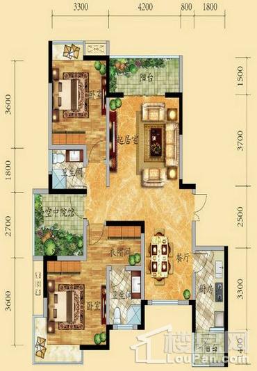 高层7号楼2-15层3号房户型