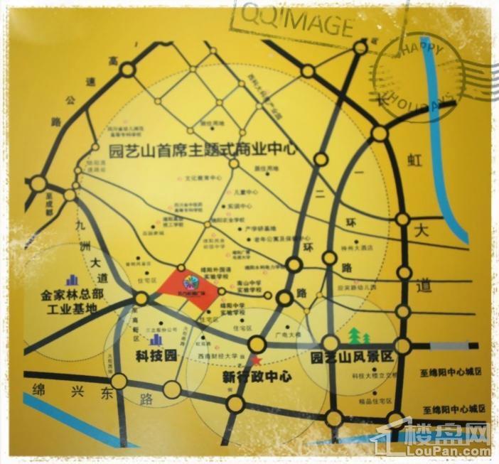 五方校园广场公寓位置图
