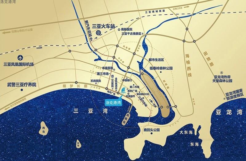 洛克港湾位置图