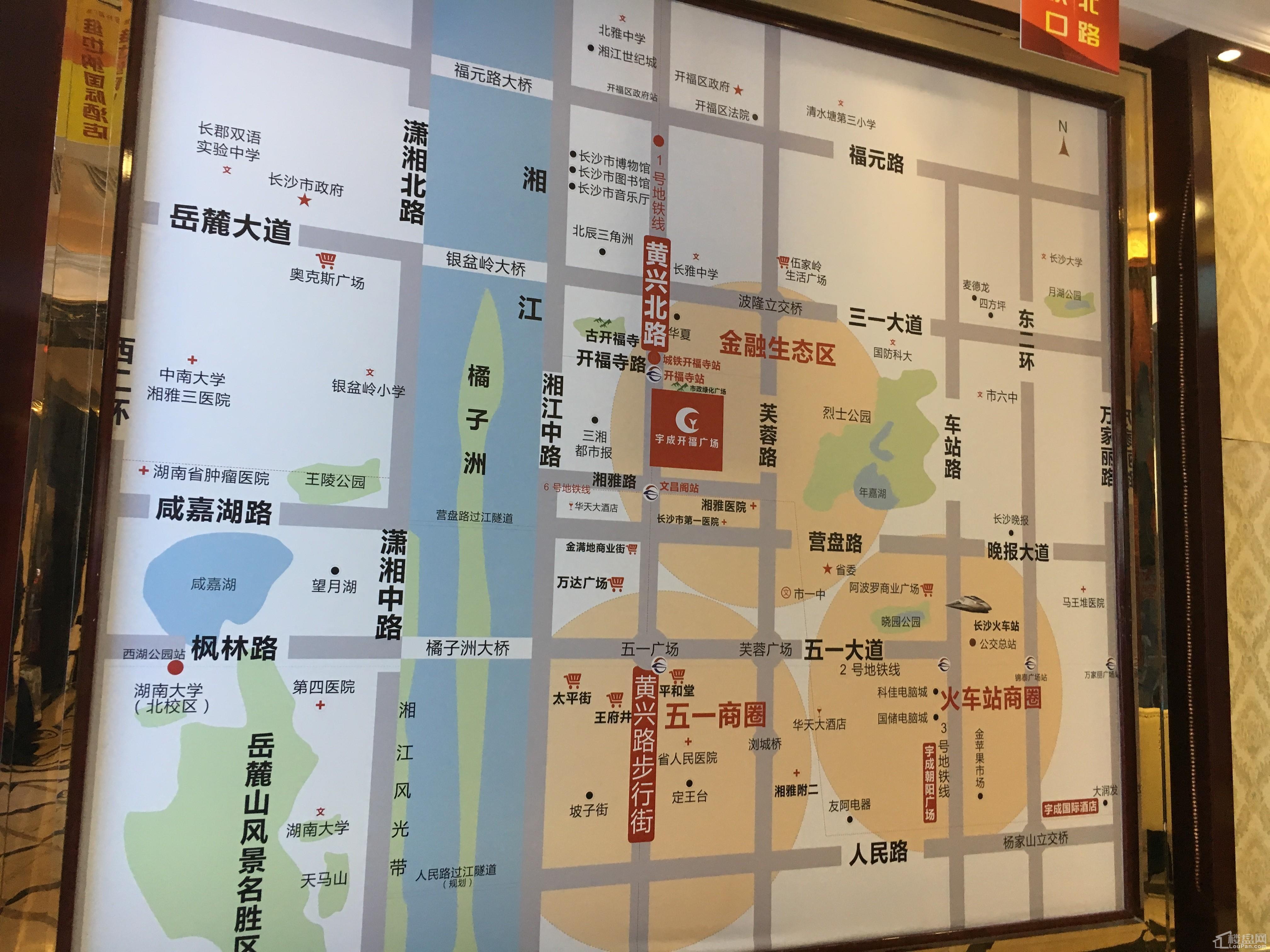 宇成开福广场配套图