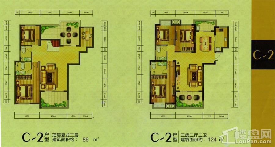 凯鸿星城C-2户型图