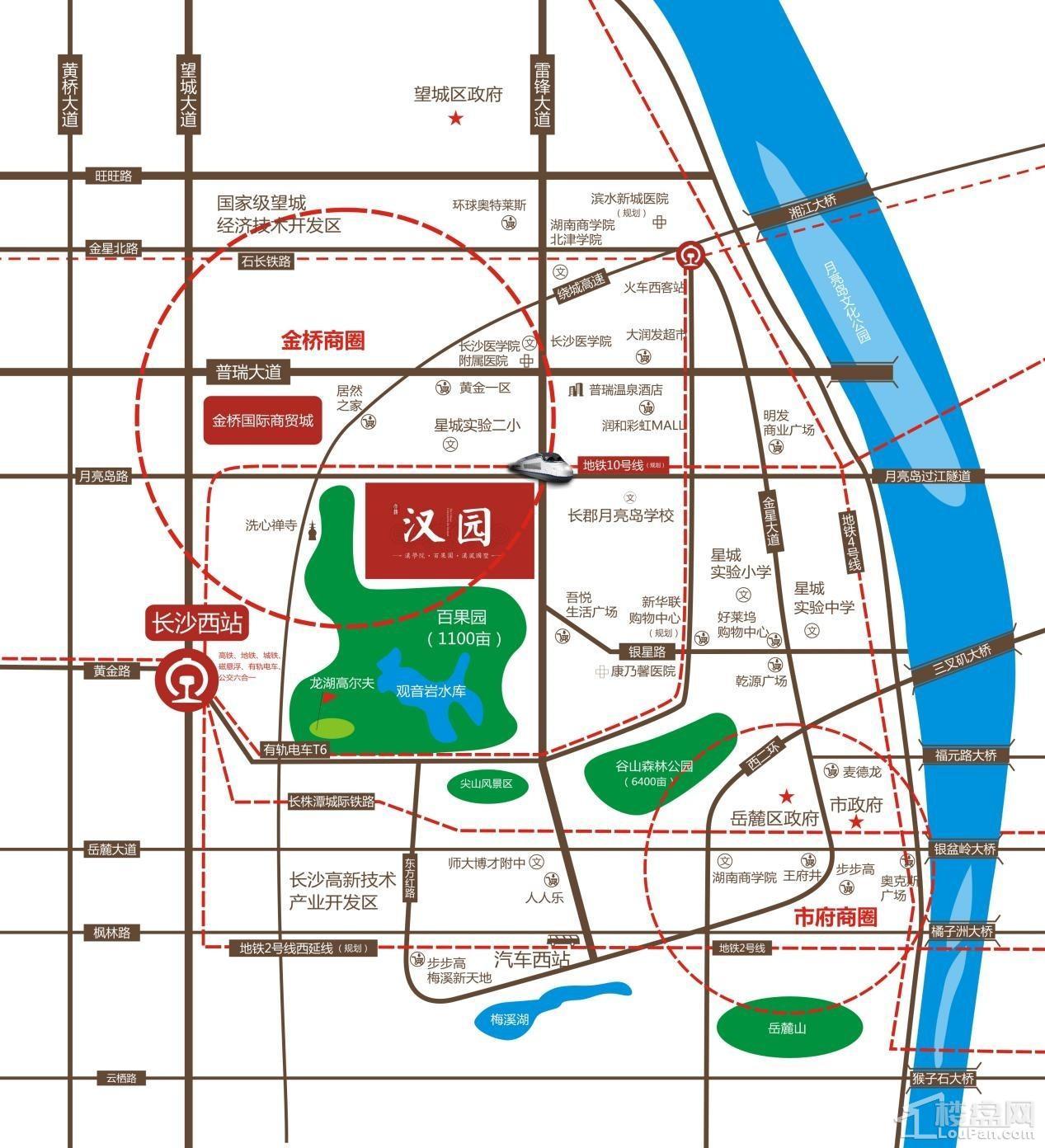 大汉汉园位置图