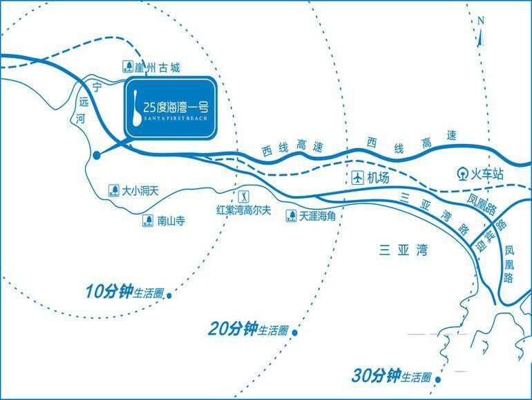 嘉鹏·25度海湾一号位置图