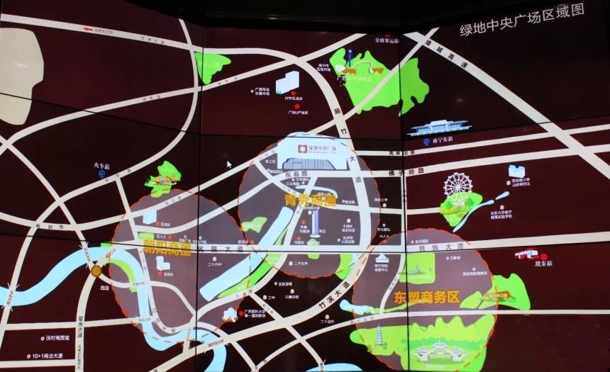 绿地中央广场位置图