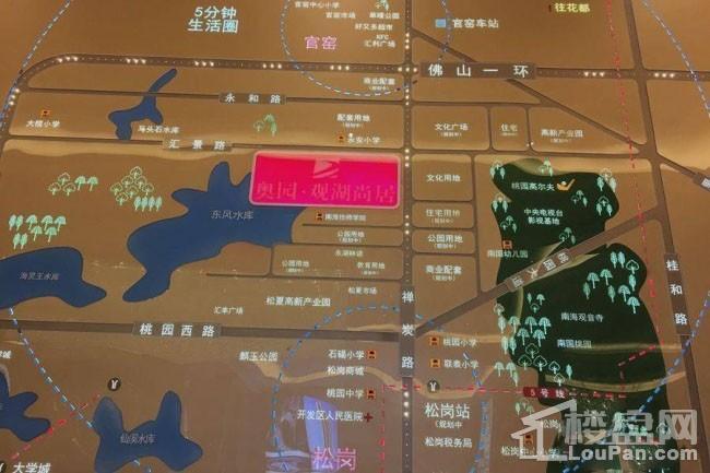 奥园·观湖尚居位置图
