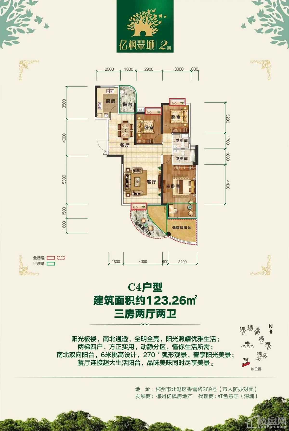 亿枫翠城7栋C4户型