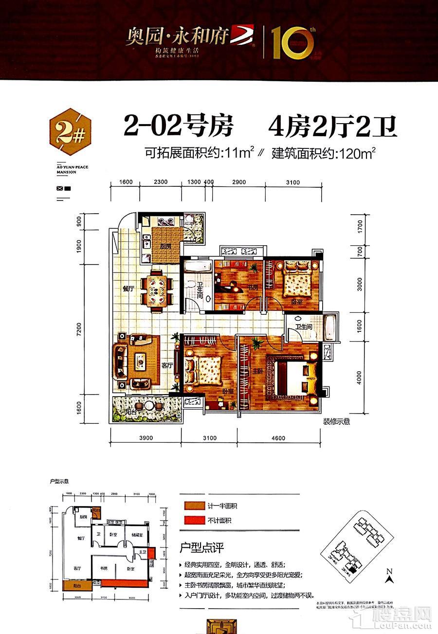 奥园永和府2#楼2-02户型