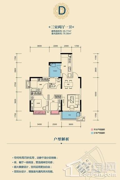 高层2/3号楼D户型