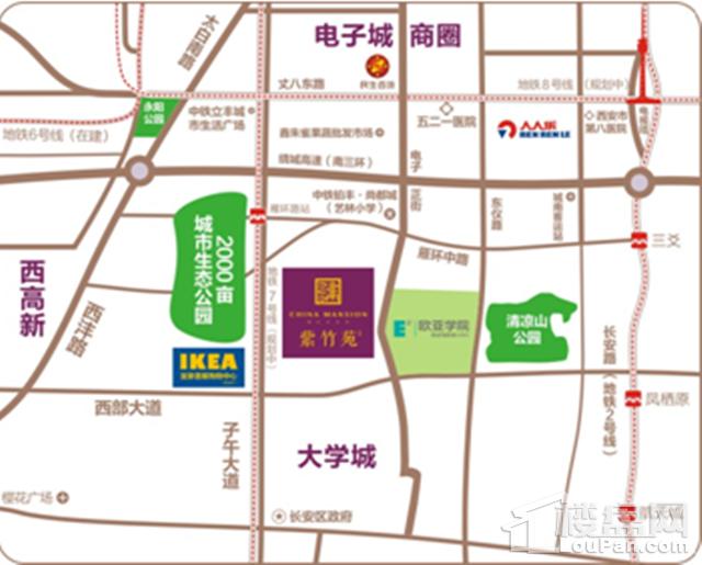 华安紫竹苑位置图