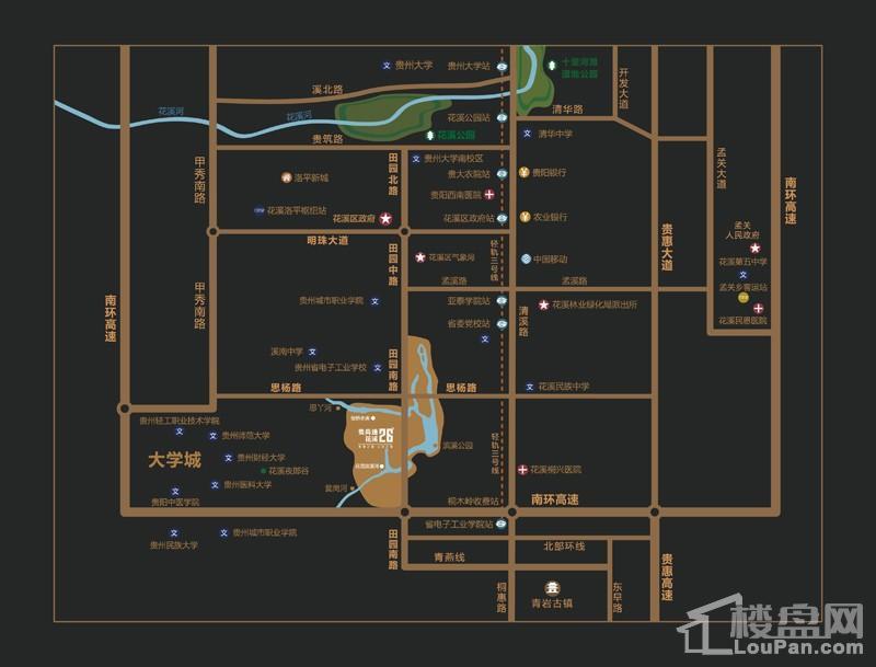 贵高速▪花溪26°区位图