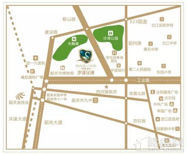 沙湖绿洲位置图