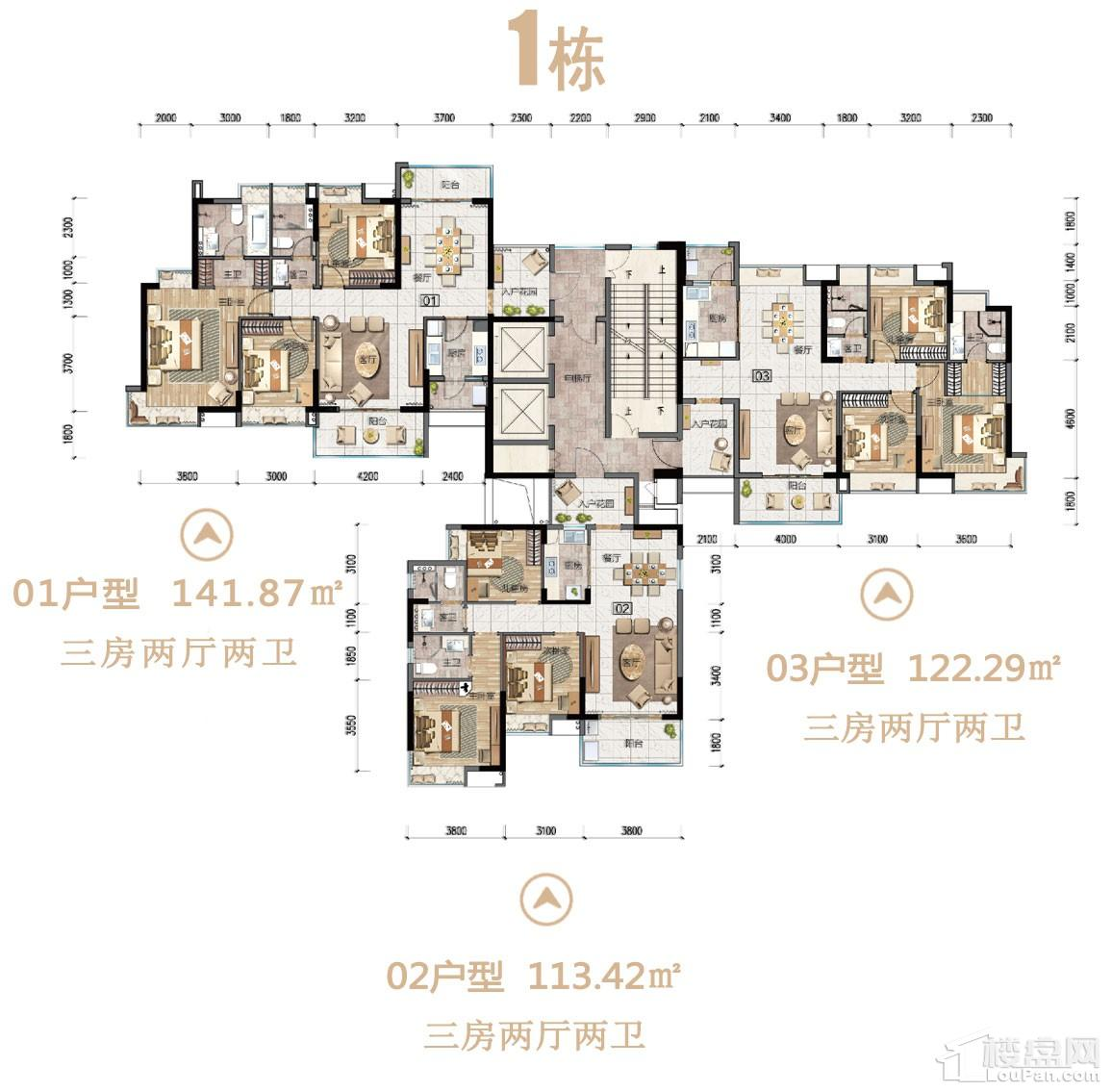 沙湖绿洲1栋户型图