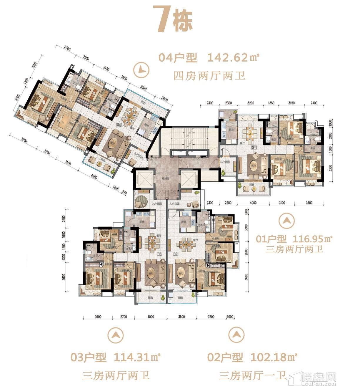 沙湖绿洲7栋户型图