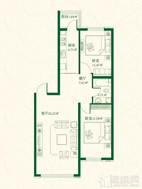 7号楼H户型