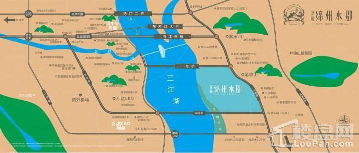 富临绵州水郡位置图