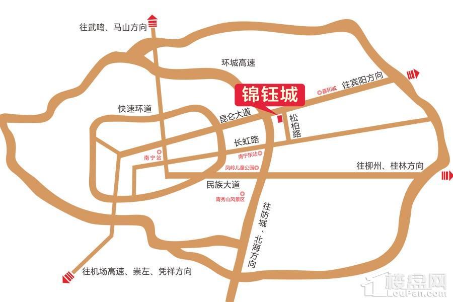 锦钰城区位图