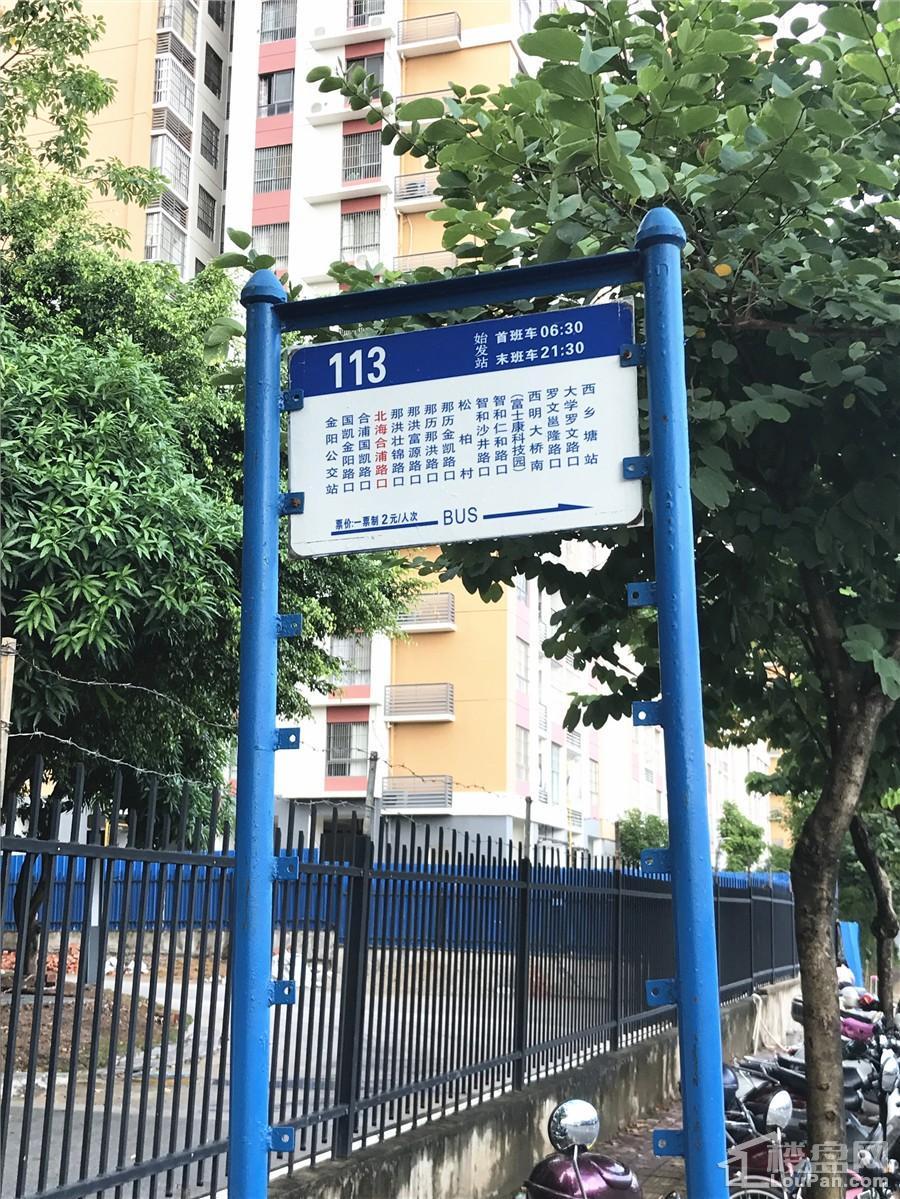 青溪府交通配套实景图(摄于10.7)
