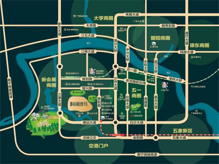 碧桂园公园壹号位置图