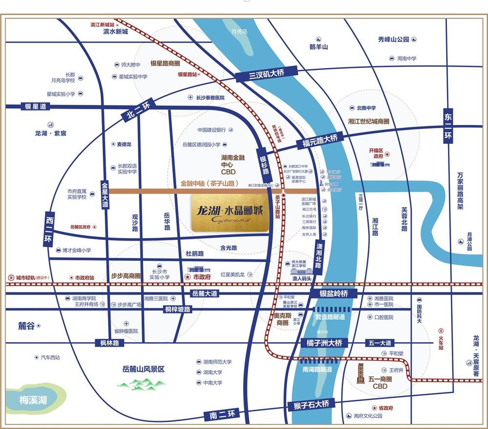 龙湖水晶郦城位置图