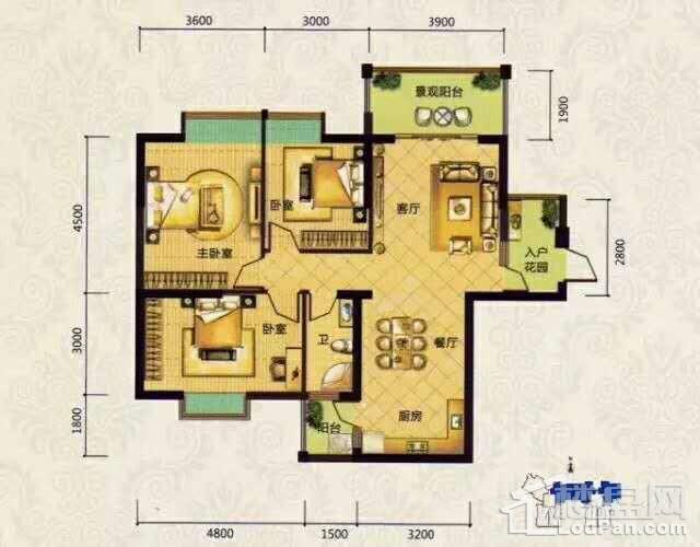 夏威夷豪庭户型图